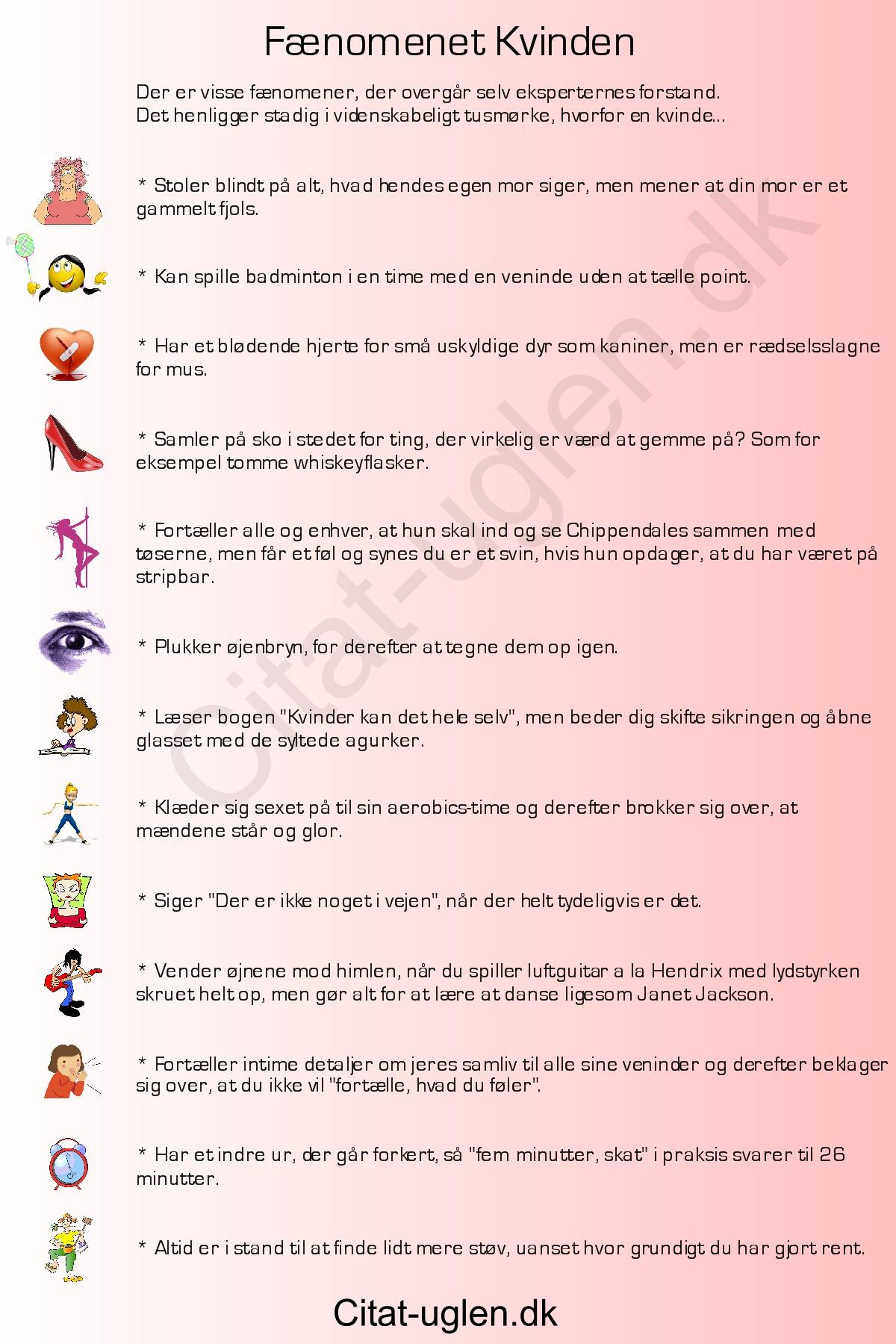 sjove citater om kvinder FænomeKvinden : Citat uglen.dk sjove citater om kvinder